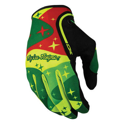 Troy Lee Designs XC Cosmic Camo Glove Yellow/Green S