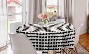 abakuhaus tischdecke kreis tischdecke abdeckung für esszimmer küche dekoration minimalismus abstrakte zick zack formen kaufen otto