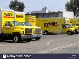 100 Rental Truck Discounts Fleet Of Yellow Ryder Rental Trucks In Lot Stock Photo