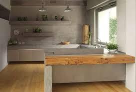 beton ciré mur cuisine un plan de travail en béton ciré du béton dans la maison
