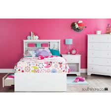 South Shore Fusion 6 Drawer Dresser by Fusion Transitional Storage Headboard Single Pure White