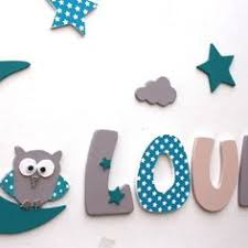 lettre decorative pour chambre bébé décoration prénom lettres en bois lettres taille 9 cm