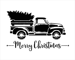 Amazon.com: Little Red Truck With Merry Christmas Word Stencil By ... 10 Chevrolet Themed Halloween Pumpkin Stencils Via Lafontaineauto M0189 Vintage Truck With Tree Muddaritaville Studio Amazoncom Christmas Red Truck Stencil Paint Your Own Sign Wood Silhouette Cameo Tutorial Oramask 5 Steps To Vintage Hot Rod Door Art By Andys Pstriping Listing Os Blog Archive Pack 1 Only 4995 Firetruck Sp Shopping Chalk Couture