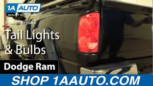 100 Ram Light Truck Parts How To Replace Tail S Bulbs 0708 Dodge YouTube