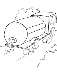 Water Tank Truck Coloring Page