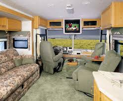 Photo Of The Interior A Motorhome In Front