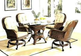 Dining Chairs Dining Chairs With Casters Swivel Dining Chair With
