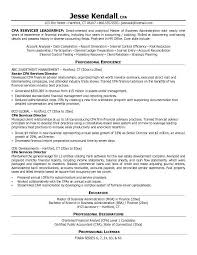 Free Certified Public Accountant Cpa Services Director Resume Example Sample Template