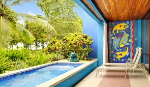 Gorgeous Swimming Pool Design Ideas Fancy Outdoor Living Space With Fish Tile Artwork For
