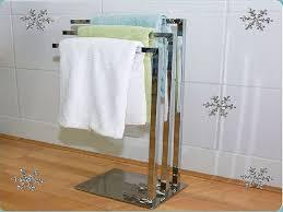 practical free standing towel rack u2014 modern home interiors
