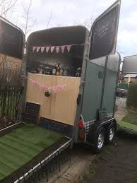 Vintage Catering Trailer Horse Conversion Gin Bar Weddings Coffee Summer