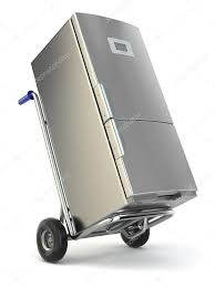 100 Appliance Truck Delivery Hand Truck And Fridge Stock Photo