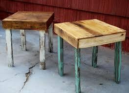 DIY Pallet Wood Side Tables