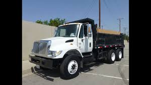 2005 International 7500 Automatic 12-15 Yard Dump Truck - YouTube
