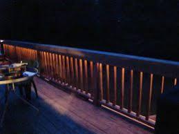 Rope Lights under Railing Patio Deck Backyard
