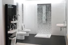 Modern Bathroom Shower Tile Designs Black Metal Scone Lamp Double