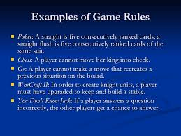6 Examples Of Game Rules
