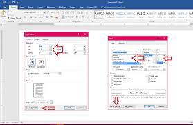 MS Word How To Set Default Page Setup Margin Font Size Style 2007 2016