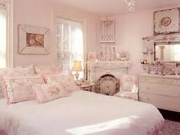Bedroom Decorating Floral Prints And Fresh Flowers Soft Pink White Ideas Vintage Furniture Decor Accessories Shabby Chic