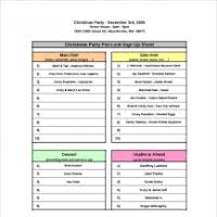 Halloween Potluck Sign In Sheet by 100 Potluck Sign Up Sheet Free Potluck Sign Up Sheets