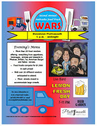 2nd Annual Nebraska Food Truck Wars - Plattsmouth Chamber Of ... Food Truck Wars Muskogee Chamber Of Commerce Jeremiahs Ice On Twitter Keeping It Cool With Ucf_knightro Sanford Food Truck Wars Competion Sanford 365 Foodtruckwar2 Naples Herald Food Truck On The Brink Lunch And The City Ucfastival Adds Atmosphere To Spring Game Life Nsmtoday Inaugural Event At Six Bends Ft Myers Pizza Nyc Film Festival I Dream Of Warz 2 Kicking Up A Notch Bdnmbca Brandon Mb Wars Saskatoon Association Faq