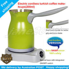 Image Is Loading Turkish Greek Electric Coffee Maker Anti Overflow Function