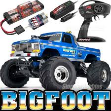 100 Bigfoot Monster Truck Toys Traxxas Original RTR Blue