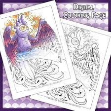 Air Parrot Spirit Animal Coloring Page Animals For Adults Spirits Wind Also In Ethereal Creatures Book
