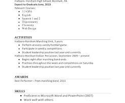 High School Job Resume Download Student Examples Sample Resumes For Highschool Students With No Experience