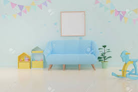 Home Interior Pics Home Interior Photo Frame Mock Up On White Wall Background Baby Room Interior 3d Rendering Minimal Style
