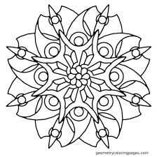 Blade Flower Geometry Coloring Pages Sacred Book Pdf Colouring Large Size