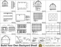 10 X 16 Shed Plans Gambrel by 16x24 Gambrel Shed Plans Stuff Gambrel
