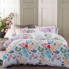TUTUBIRD Floral Duvet Covers Tropical Leaf Print Bedding Sets