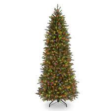 Downswept Slim Christmas Tree by National Tree Pre Lit 7 1 2 U0027