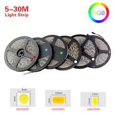 foxanon 5m 30m rgb led light 5050 5630 2835 led 12v led