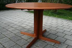 esstisch tisch rund ausziehbar falster design mid century retro 60er 70s ebay