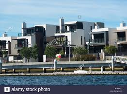 100 Modern Homes Victoria Houses On River Yarra Melbourne Australia Stock