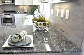 White Cabinets Dark Countertop Backsplash by Gray Brick Pattern Backsplash White Cabinets Dark Gray Black