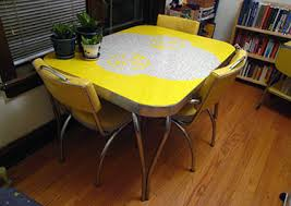 Yellow Retro Kitchen Table