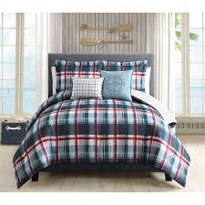 Ducks Unlimited Bedding by Plaid Comforter South Haven Tartan Plaid Piped Sham Red European