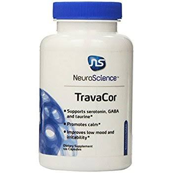 Neuroscience Travacor Helps Anxiety Insomnia Hyperactivity Dietary Supplement - 120ct