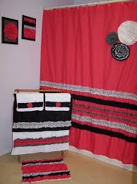 Red Bathroom Rug Set by Bathroom Interior Bathroom Sets With Shower Curtain And Rugs