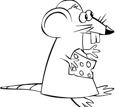 Cartoon Mouse With Cheese Coloring Page Free Printable Pages Kids Size 1920