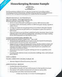 Exsample Resume For Housekeeping With No Experience Unique Housekeeper Skills Hospital