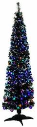 6ft Slim Christmas Tree With Lights by Pre Decorated Black Fibre Optic Artificial Christmas Tree Lights 1 8m