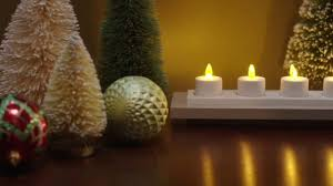 Qvc Christmas Tree With Remote by Luminara Set Of 4 Rechargeable Tealights With Base On Qvc Youtube