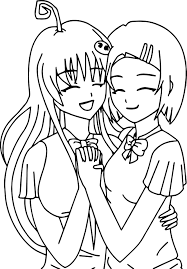 Best Friends Printable Coloring Pages