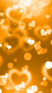Gold heart Girly iPhone wallpapers