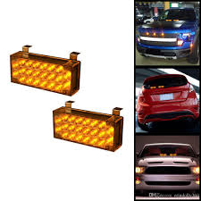 2x22 LED Flasher Light Emergency Vehicle Strobe Lamp Bars With ...