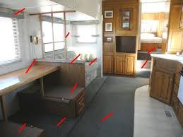 Up In The Fifth Wheel Bedroom Area Removed During This RV Remodeling Demolition Will Be Bed Base Compartments I Also Built Just A Couple Of Years